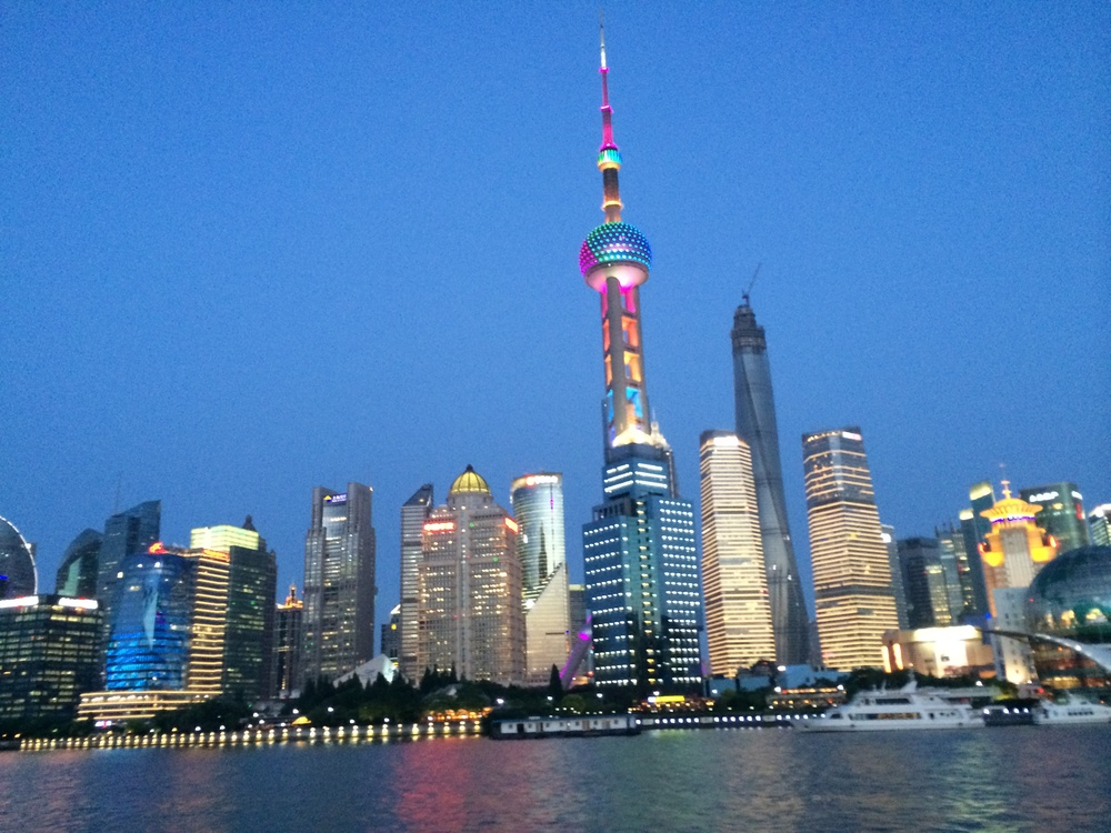 The Oriental Pearl Tower (with LED lights) is one of the most distinctive landmarks in Shanghai!