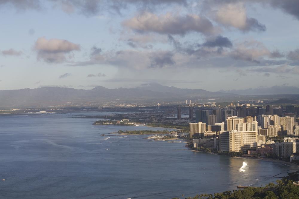 Honolulu Oahu Aerial View
