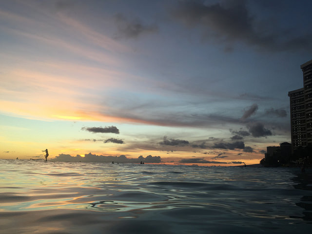 Waikiki Beach Sunset Paddleboarding