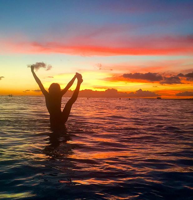 Waikiki Beach Sunset Travel Blog