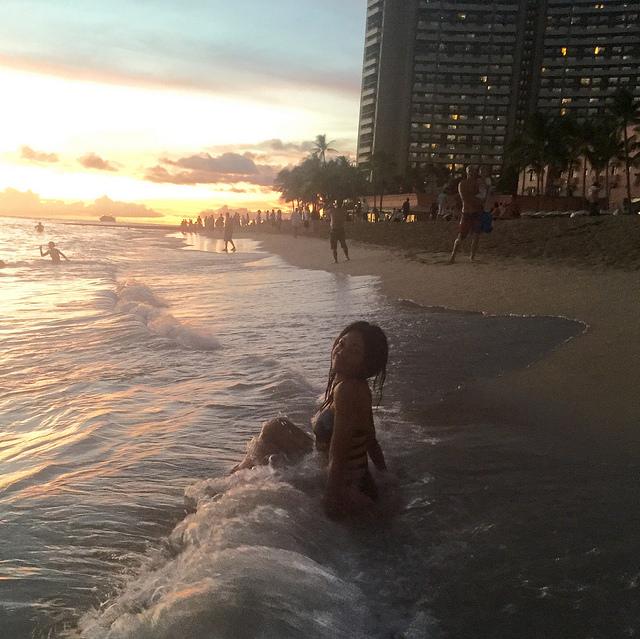 Waikiki Beach Sunset Swim