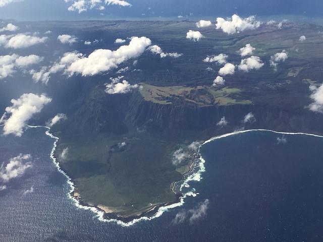 flying over hawaii