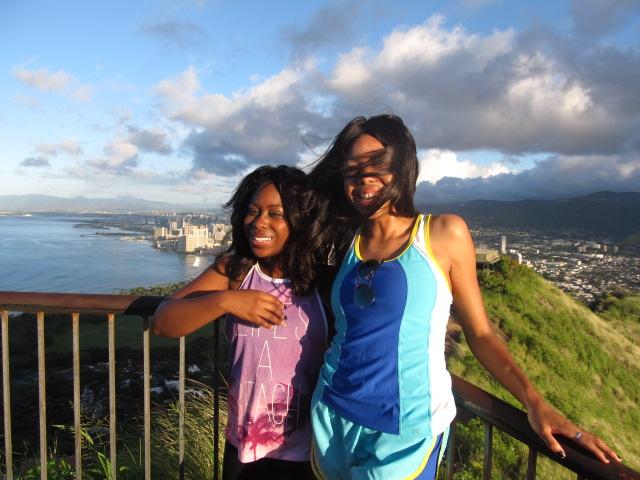 black girls hiking diamond head