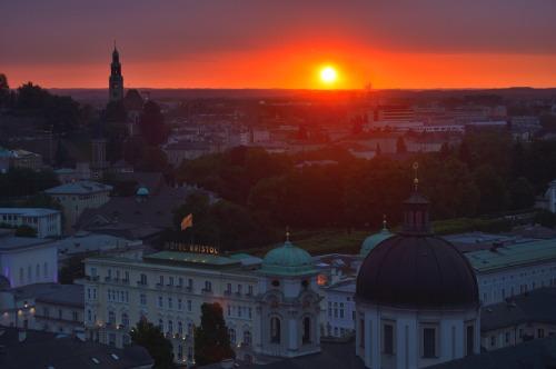 salzburg austria sunset