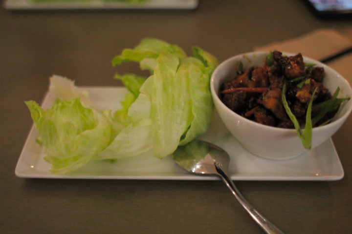 Szechuan chicken lettuce wrap