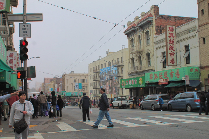 Walking through Chinatown