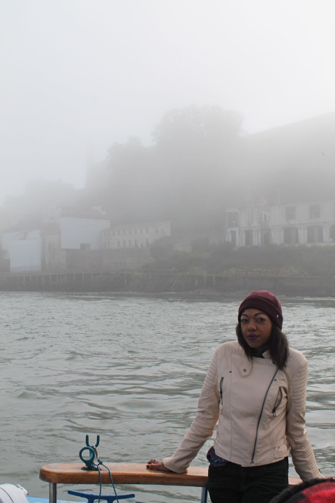 Alcatraz behind a haunting fog