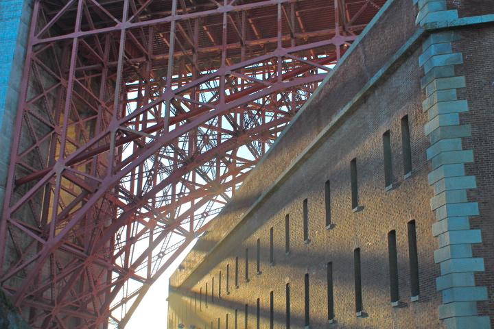 Ft. Point underneath the Golden Gate Bridge