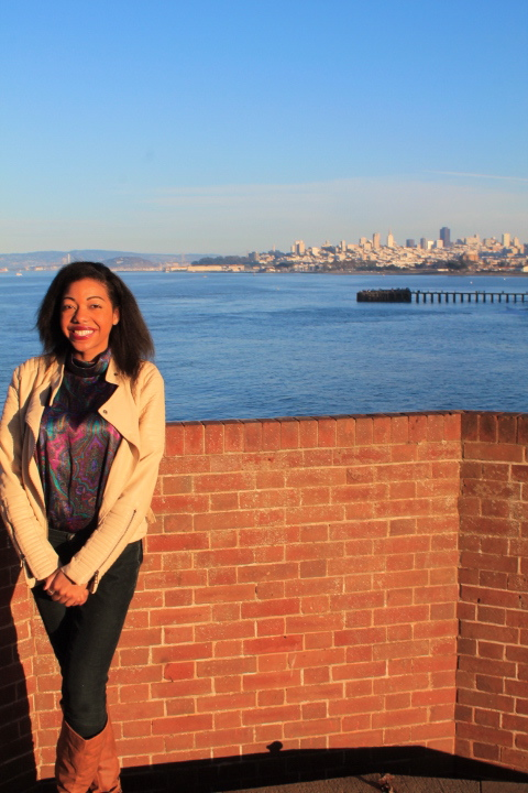 On Ft. Point's rooftop w/ San Fran behind me