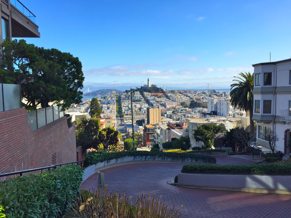 Crooked Street / Lombard Street - the world's most winding street. This view was sick!