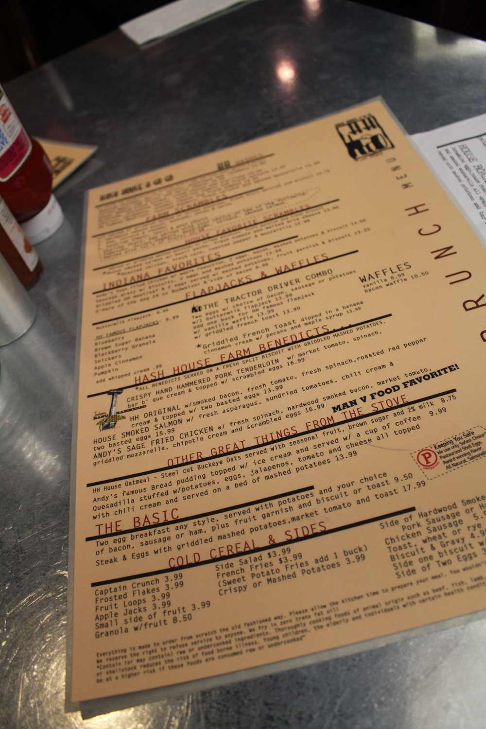 Hash House a Gogo Menu Brunch