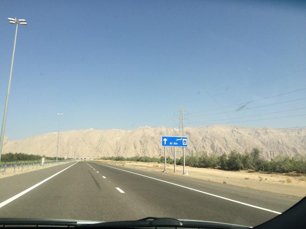 On the way towards Jebel Hafeet