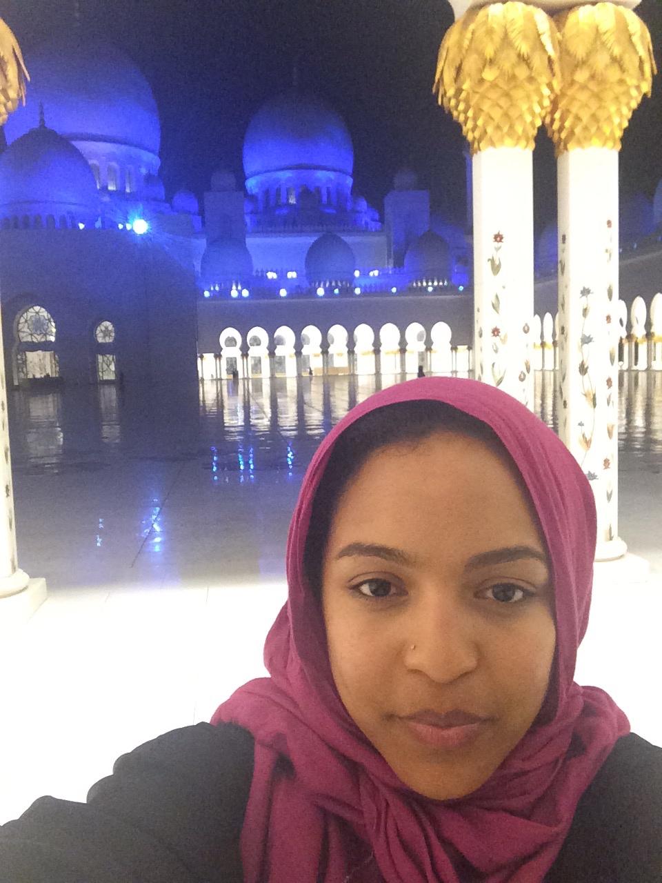 Mosque selfie