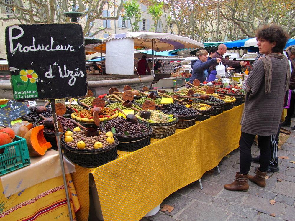 French farmer's market