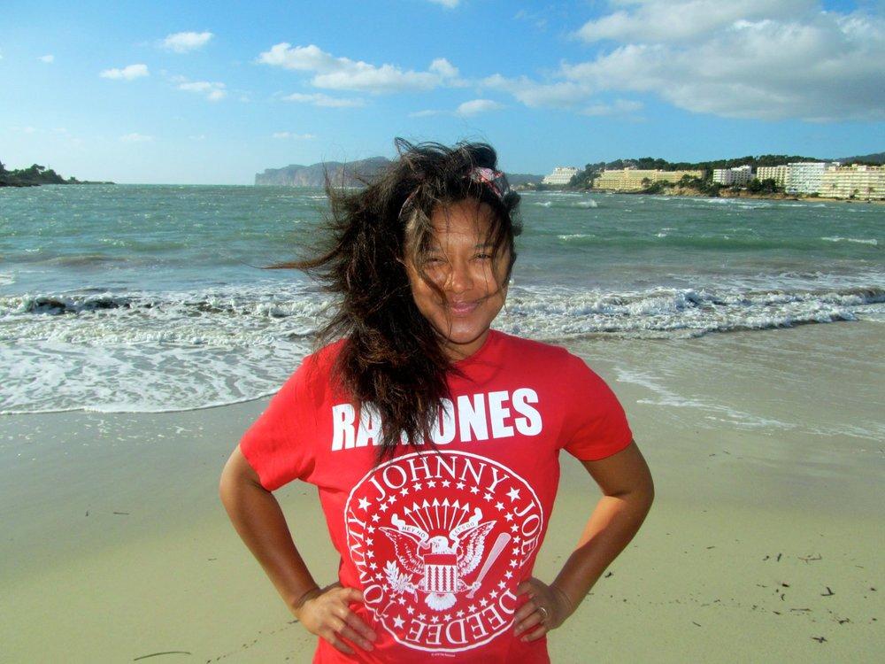 Amirah in her favorite destination...Majorca, Spain