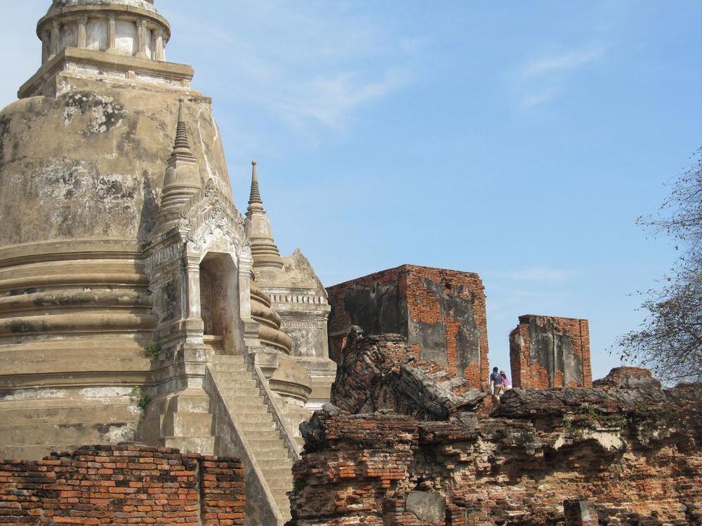 Ayutthaya Ruins Bangkok Thailand Temple