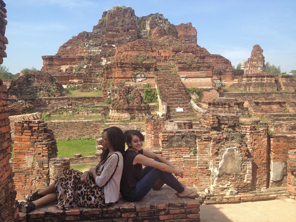 Mona & I admiring Thailand's ancient temples