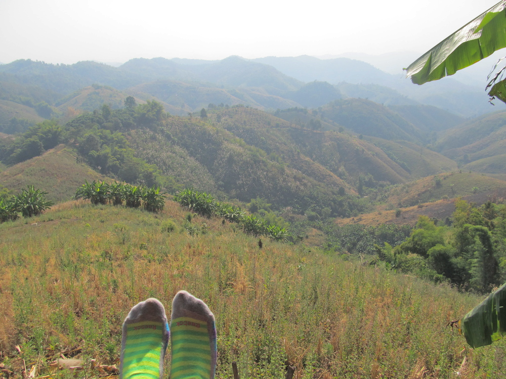 Toe wiggling in my favorite socks, taking in this awing view & awesome experience