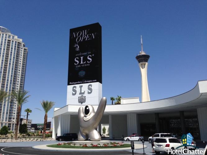 SLS front entrance - photo via Hotel Chatter