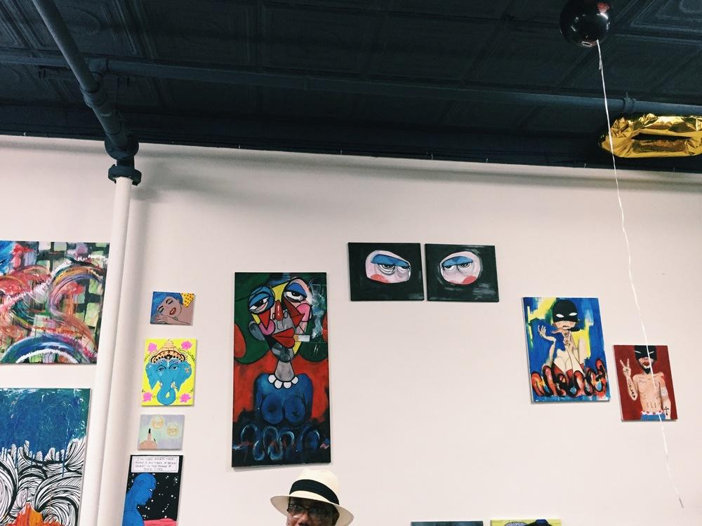 An art exhibit in Harlem