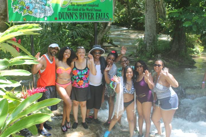 Fam-bam takes Dunns River Falls - Ocho Rios, Jamaica