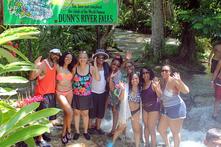 We conquered Dunn's River Falls! - The falls is always crowded, but it's an Ocho Rios must