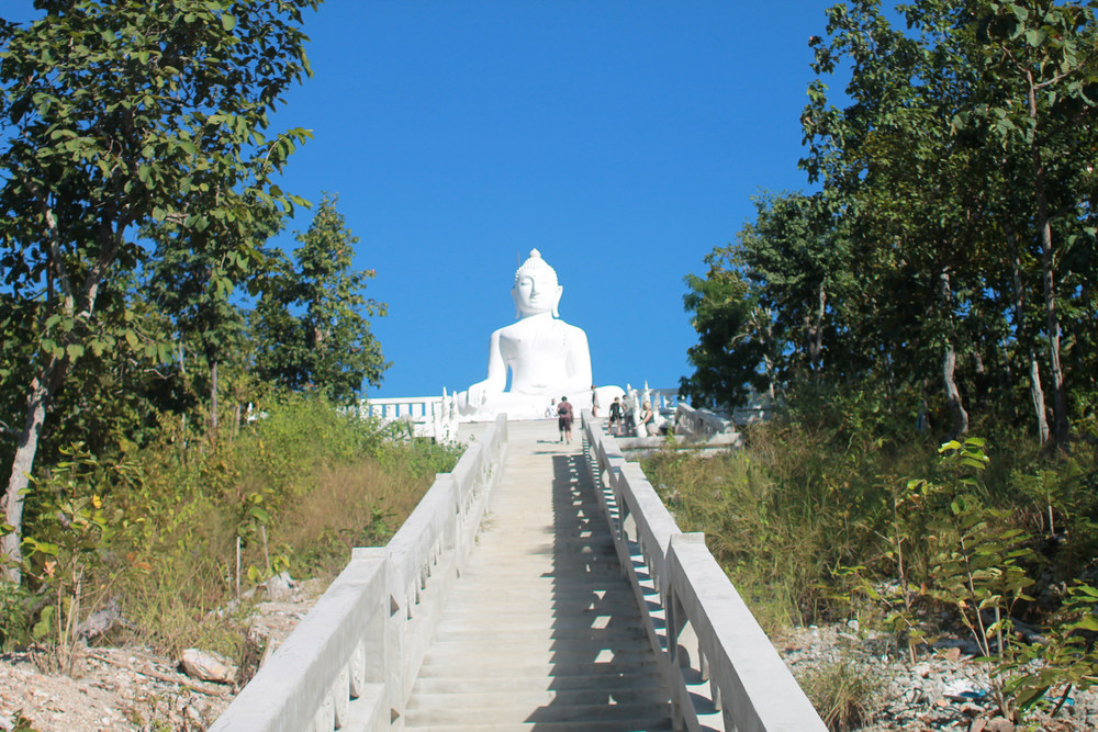 The Big Buddha statue takes some effort to get to