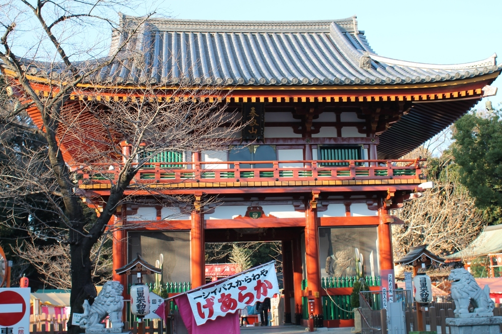 A temple in the Fudomae area of Tokyo