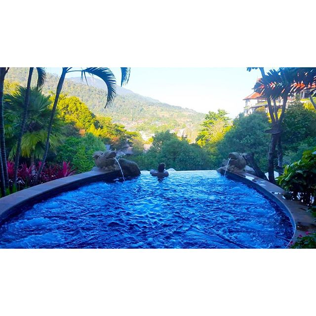 """Taking in the view of today's office at Panviman Resort."" (Chiang Mai, Thailand)"