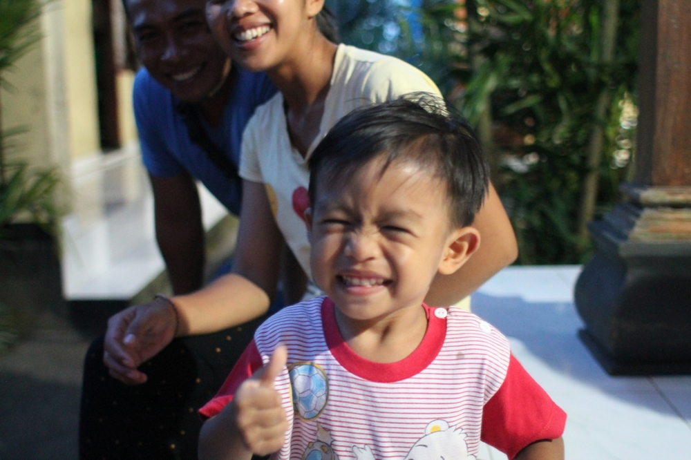 My host family's son. Baby boy was too adorable // Agus Homestay