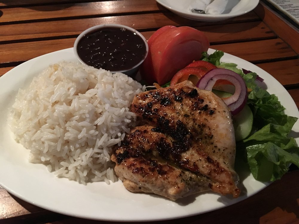 Eat @ Joe's - Grilled chicken with rice and beans