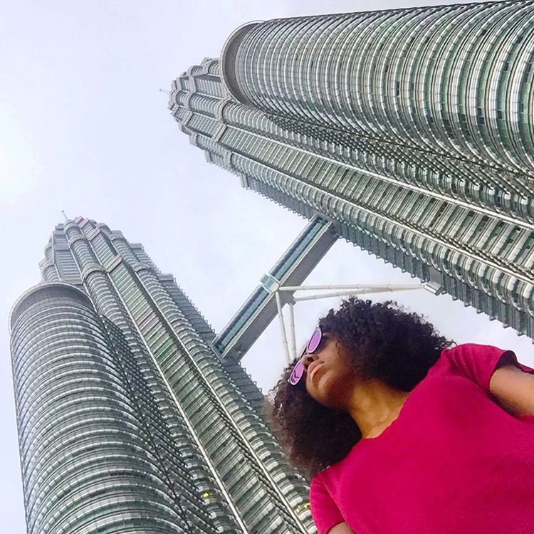 Above: Petrona Towers from above; Below: Petronas Towers from below