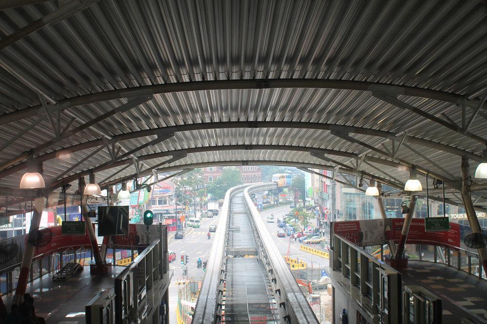 Inside a Kuala Lumpur subway station