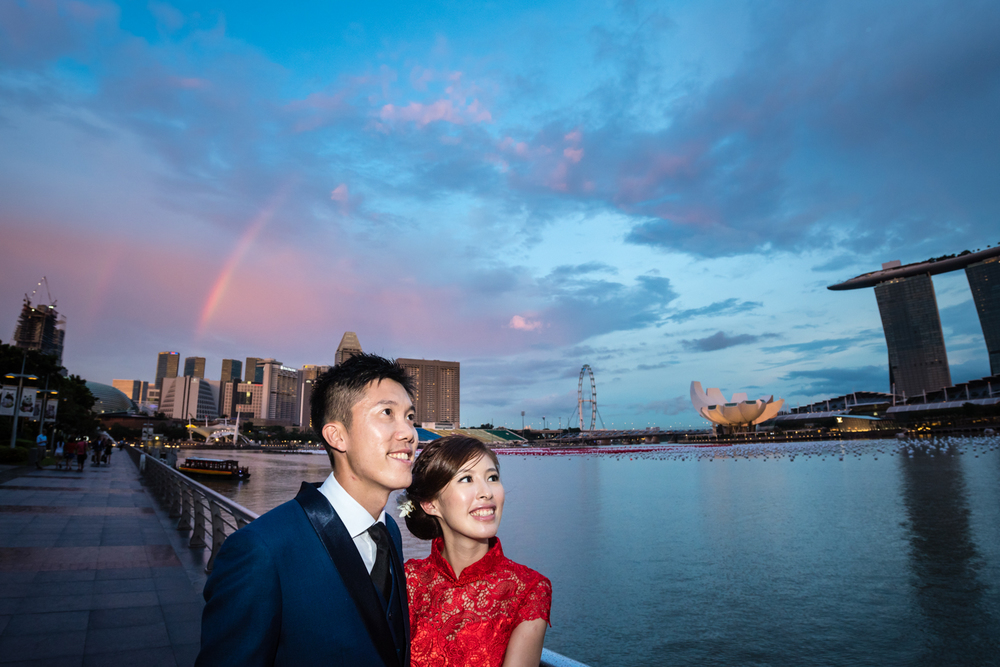 Pre Wedding Shoot Marina Bay Sunset Rainbow Singapore (1 of 1).jpg