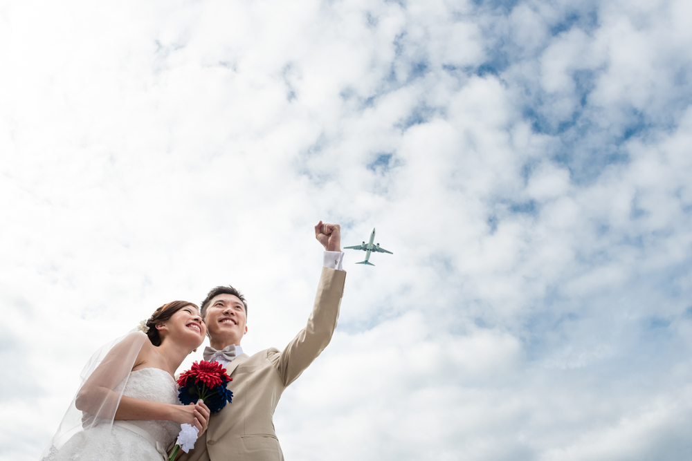 Pre Wedding Shoot Sky Aeroplane Singapore (1 of 2).jpg