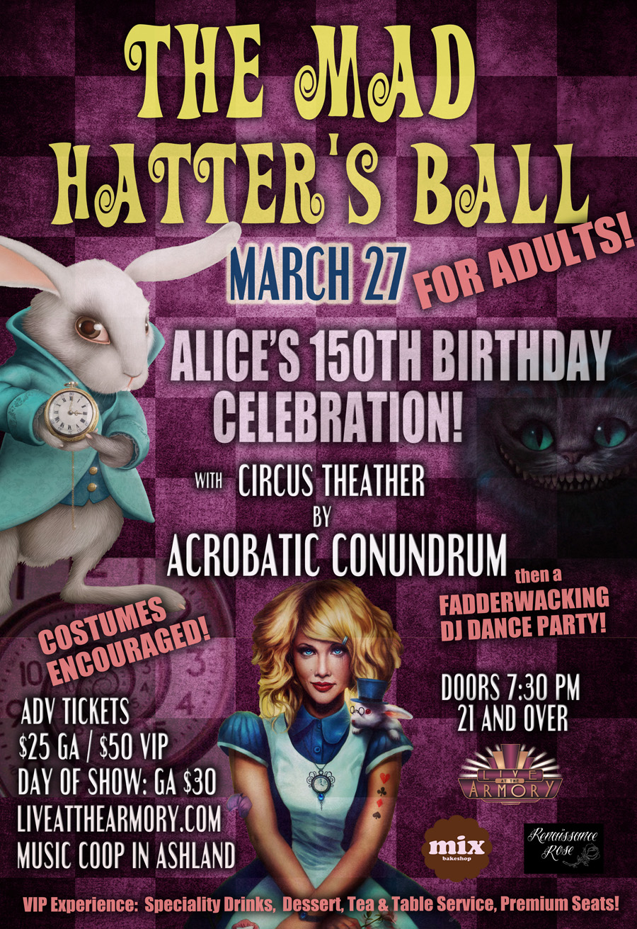 The mad hatter 39 s ball for adults live at the armory - The armory show tickets ...