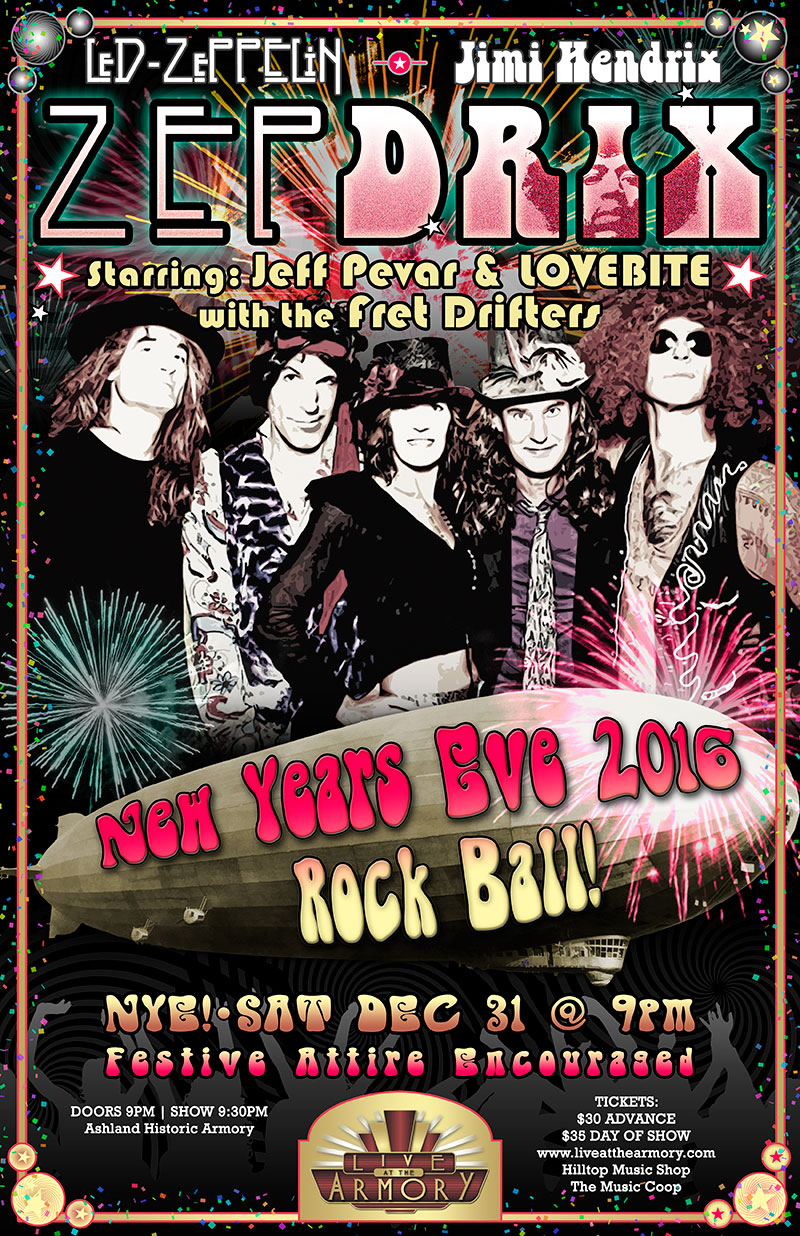 Zepdrix nye rock ball 2016 17 live at the armory - The armory show tickets ...