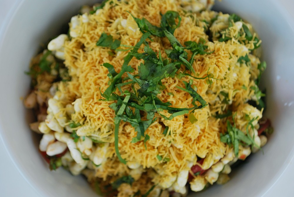 BHEL PURI - Light & Flavorful, served in a paper cone, classic Bombay Street Style