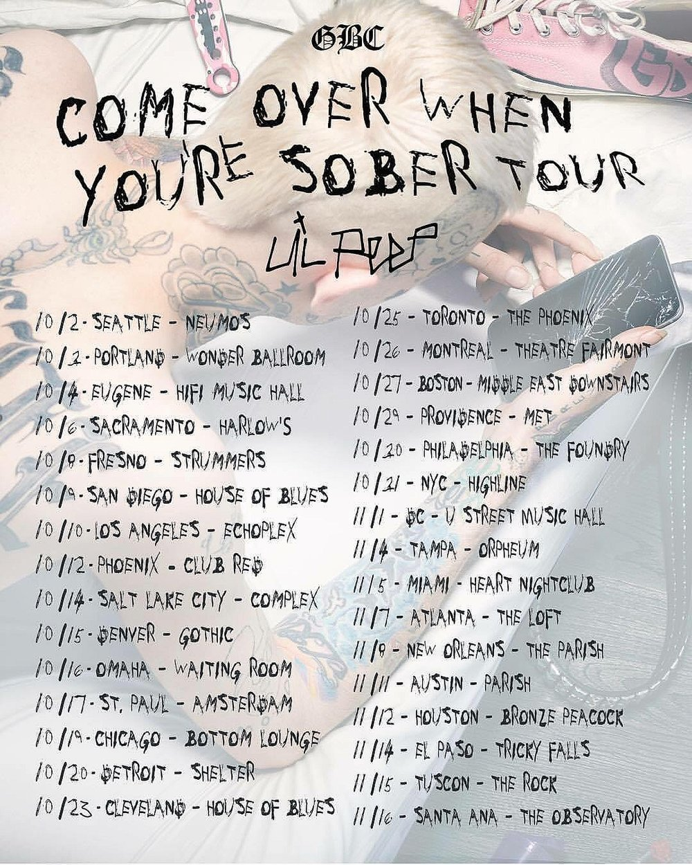 Come Over When You're sober Tour