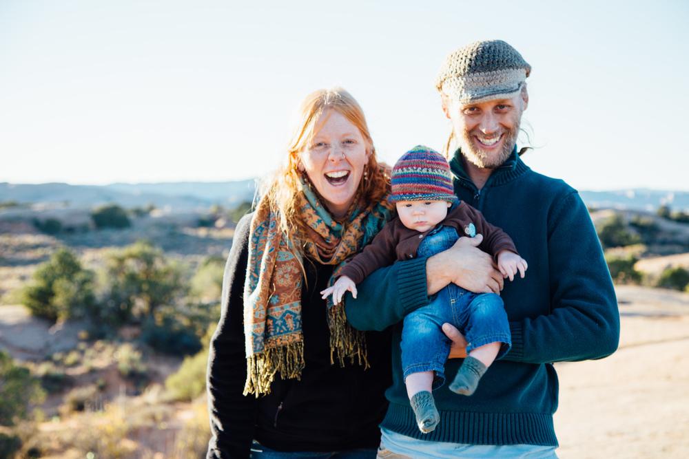 fall family portraits in moab, utah