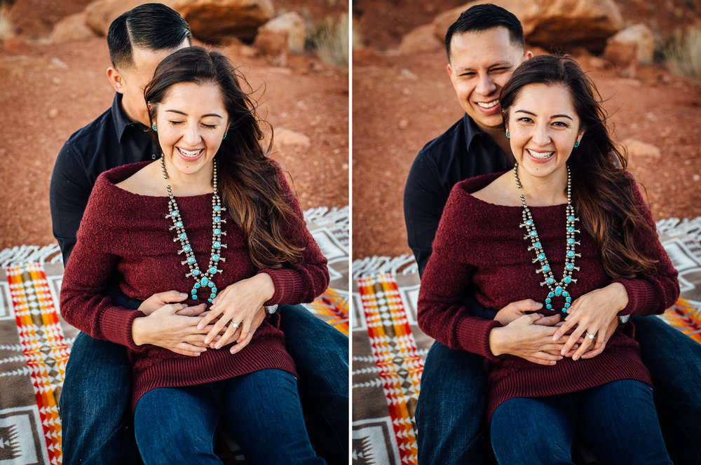monument valley engagement session moab