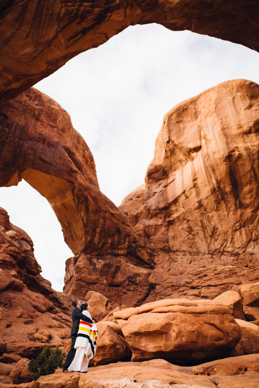 moab arches wedding