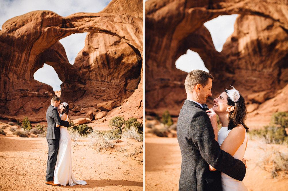 arches moab wedding