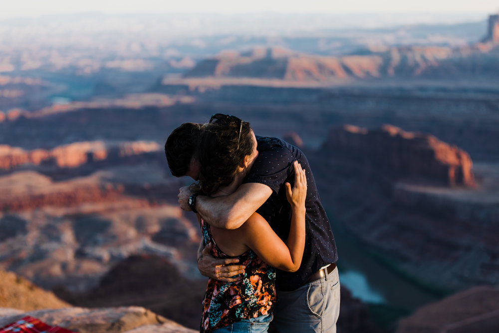 moab utah outdoor engagement session adventure