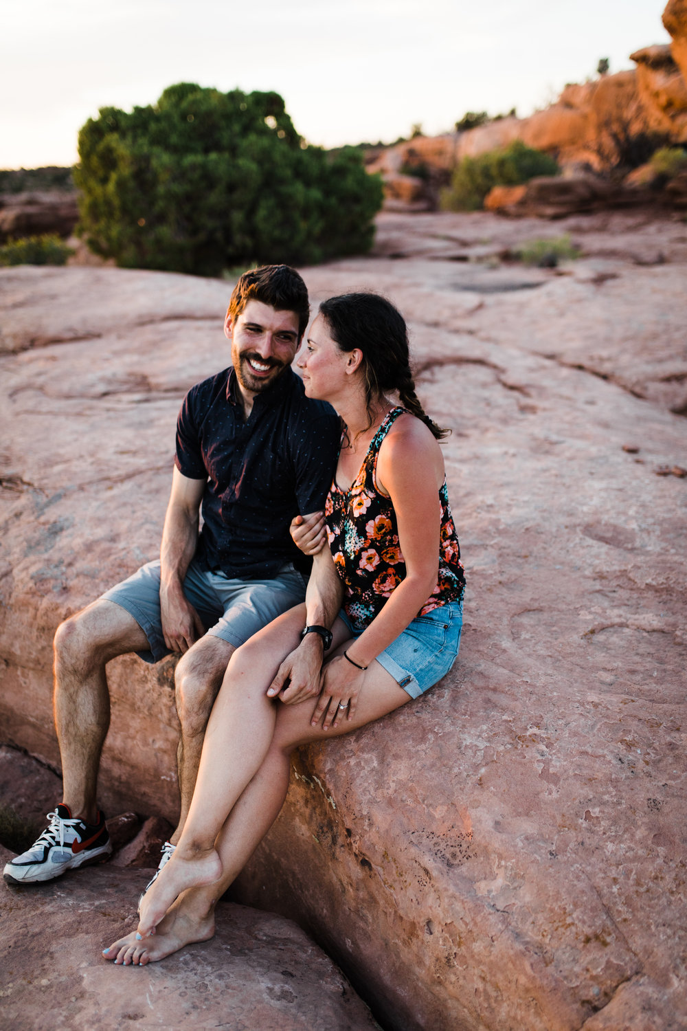 moab utah outdoor engagement proposal wedding