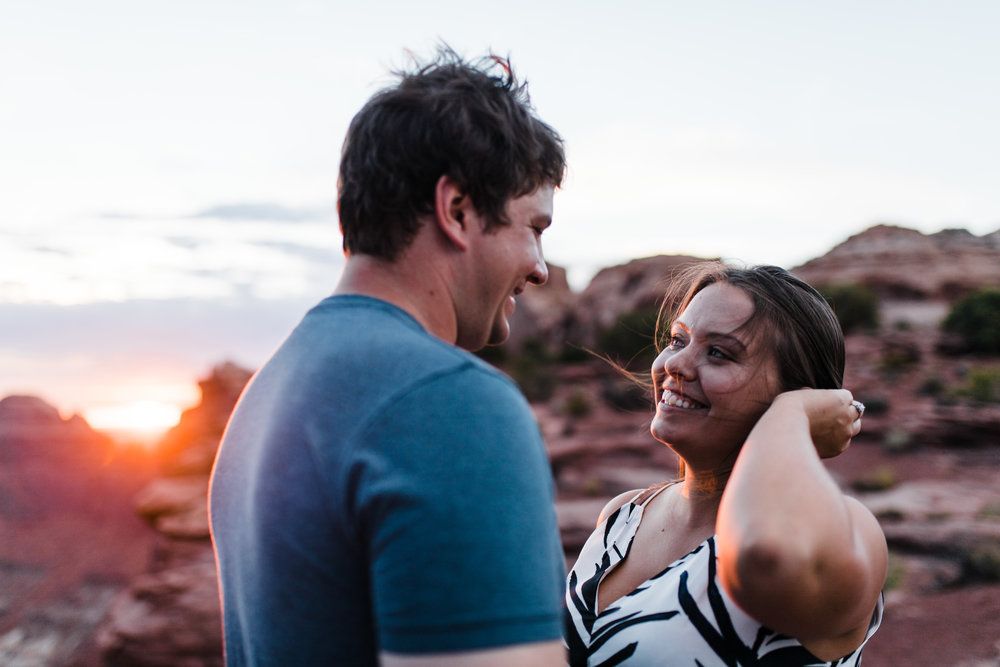 moab utah engagement photographer outdoor wedding
