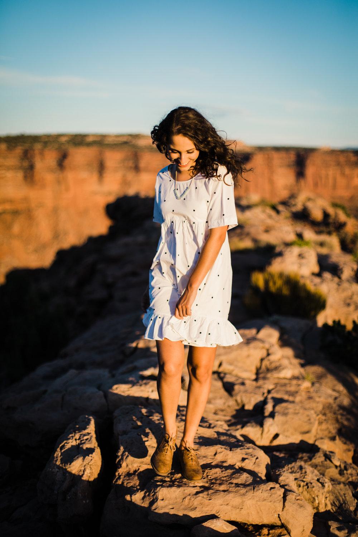 moab utah senior portraits outdoor national park