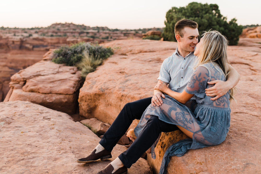 moab utah engagement session adventure wedding dead horse point