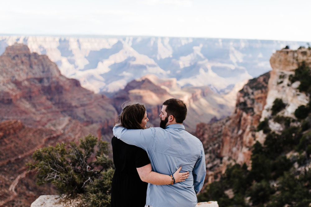 grand canyon national park engagements couples adventure session