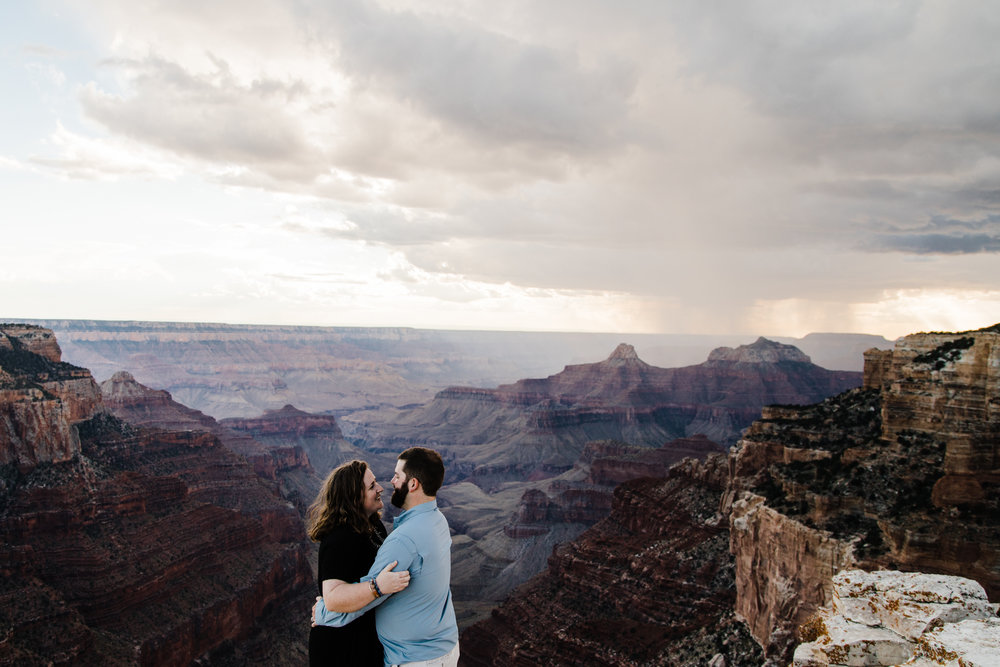 grand canyon national park engagements couples adventure session arizona